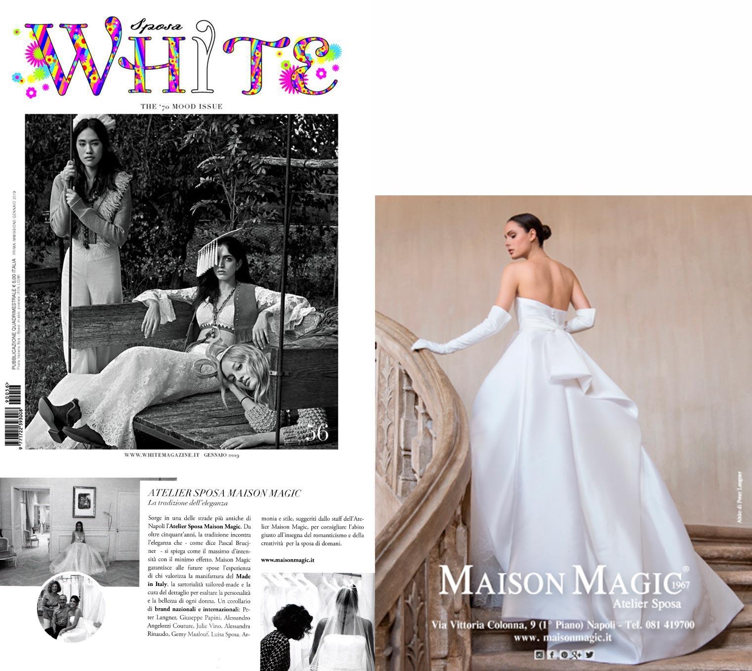 a3242c719996 Maison Magic Atelier Sposa sulle pagine di White Sposa - The  70 Mood issue   56 - MAISON MAGIC
